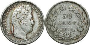 O1896 50 Centimes Cérès 1846 A Paris Argent