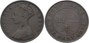 O1928 Hong Kong 1 cent Victoria 1876 -> M offer