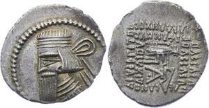 O1950 Scarce !! Kings Parthia Gotarzes II 40-51 AD Drachm Ekbatana mint AU