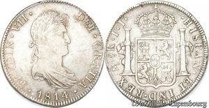 S8132 Mexico 8 Reales Ferdinand VII 1813 Mo JJ Mexico Argent Silver
