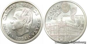S8143 Spain 2000 Pesetas Juan Carlos I 1975 - 2014 Silver 1995 FDC -