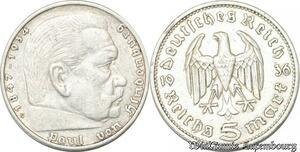 S8183 Allemagne 5 Marks Kinderburg 1936 Argent Silver SPL FDC - Faire Offre