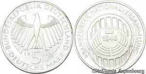 S8187 Allemagne 5 Marks 1973 Nationalversammlung G Argent Silver SPL FDC