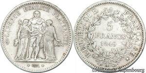 S8209 5 Francs Hercule 1849 A Paris Argent Silver - Faire Offre
