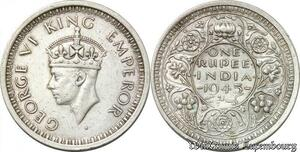 S8539 Inde 1 Rupee India 1945 George V Argent Silver -> Faire Offre