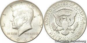 S8547 USA Half Dollar Kennedy 1965 UNC Silver -> Make Offer