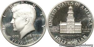 S8549 USA Half Dollar Bicentenaire San Francisco 1976 S Proof UNC Silver