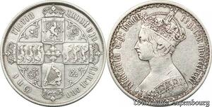 S8589 Great Britain UK 1 Florin Victoria 1872 Argent Silver -> Make Offer