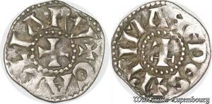 S8699 Rare Lyon Archevêché DenI Anonyme 1260-1300 Prima Sedes Galliarv Argent