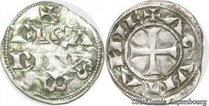 S8703 Rare Aquitaine England Richard Coeur de Lion 1172-99 DenI B 471 Argent