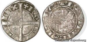 S8708 Charles VII Dauphiné Roi Patard Blanc dentillé Romans Argent Silver