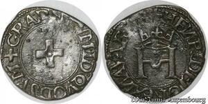 S8716 Royaume Navae Bearn Henri d'Albret 1518-1555 Liard à la croisEtte -