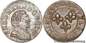 S8717 Orange Principauté d'Frédéric-Henri de Nassau double tournois 1640