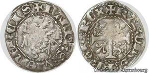 S8724 Rare Dauphiné Charles VII roi Et dauphin liard au dauphin Romans