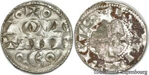 S8727 Rare ! Aquitaine Henri II Plantagenêt DenI (1152-1169) Bd 468 Silver