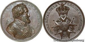 S8739 Rare Médaille Ordre royal Légion d'honneur Henri IV de Puymaurin SUP !