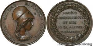 S8743 Médaille Soc. Archéologique Midi 1831 Gloriae Majorum Tolosa Palladia
