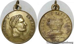 S8762 Médaille Tombeau de Napoléon I Empereur 5 Mai 1853 SUP ->Faire Offre