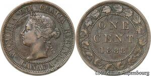 S8897 Canada One Cent Victoria 1888 Counterstamped Alex M 11 ->Faire Offre