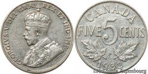S8903 Canada 5 cents George V 1932 AU ! ->Make offer