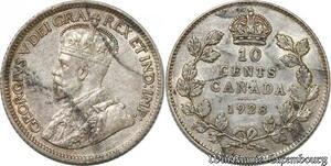 S8926 Canada 10 Cents George V 1928 Argent Silver ->Make offer