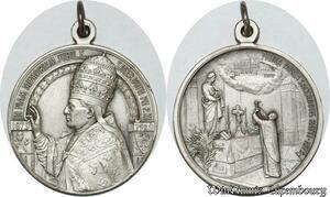 S9002 Medaglia Pivs Pio XI Piam Memoriam Jubileum 1879 1929 Prima Missa