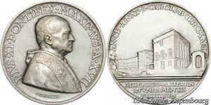 S9007 Medaglia Papal Pio XI 1938 Athenaevm Lateran Fvndamentis Silver FDC