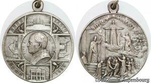S9018 Medaglia Papal Vatican Pivs XI Anno santo Roma 1925 Silvered