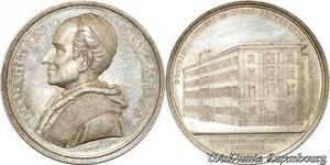 S9037 Medaglia Vatican Leo XIII 1897 Fondazione del Collegio Leoniano FDC