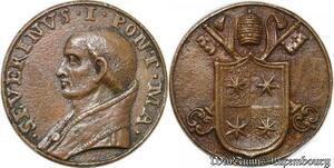 S9079 Medaglia Medal Papal Vatican Pope Severnivs I Pont Max Christ ->M offer