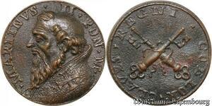 S9088 Medaglia Medal Papal Vatican Pope Martinvs II Pont Max Keys Clés