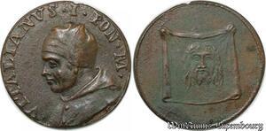 S9093 Medaglia Medal Papal Vatican Pope Vitalianvs I Pont Max Keys Clés