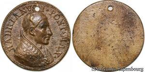 S9097 Medaglia Medal Vatican Pope Hadrianvs I Pont Max Christ uniface