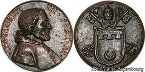 S9133 Medaglia Medal Papal Vatican Pope Evgenivs III Pont Max Keys Clés