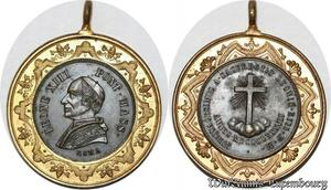 S9153 Medaglia Medal Papal Vatican Pope Leone XIII 1887 Sacerdotio ->M offer