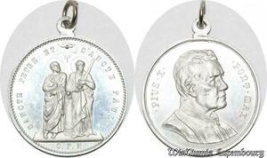 S9156 Medaglia Vatican Pope Pius X Sancte Petre Paule Proof BE ! ->M offer