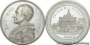 S9157 Medaglia Vatican Pope Leo XIII Chiesa di S Pietro Roma SUP ->Make offer