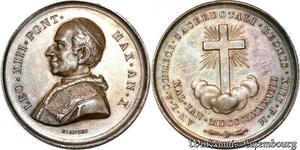 S9178 Medaglia Vatican Pope Leo XIII 50-jähriges PriesterJubiläum Silver UNC