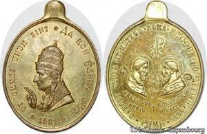 S9182 Medaglia Vatican Pope Sancti Cyril Saint MEthod Roma ! SPL