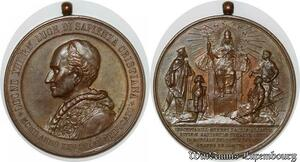 S9208 Medaglia Papal Vatican Pope Leo XIII Graves de Comuni SPL -