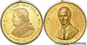 S9235 Medaglia Medal Papal Vatican Pope Leo XIII Pivs XI 1846 1878