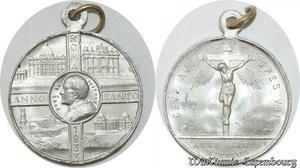 S9249 Médaille Vatican Pius Pie XI Pont Max Roma Anno Sancto 1933 SPL