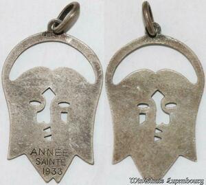 S9250 Médaille Papal Vatican Pius Jesus Christ Année Sainte 1933 ->Make offer