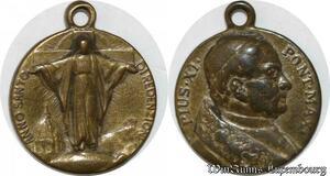S9254 Médaille Papal Vatican Pius Pie XI Pont Max Anno Sancto ->Make offer