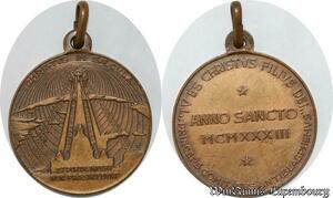 S9257 Médaille Papal Vatican Pont Max anno sancto 1933 Christivs Saecula
