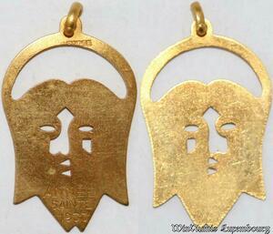 S9265 Médaille Papal Vatican Pius Jesus Christ Année Sainte 1933 ->Make offer