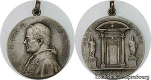 S9274 Médaille Papal Vatican Pius Pie XI Porta Sancta 1925 Silvered