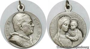 S9286 Médaille Papal Vatican Pie XI Pont Max Mater Bono Corsilio Silvered