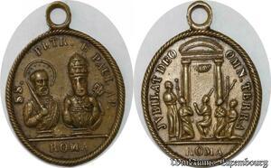 S9295 Rare Plaque Papal Vatican SS Petr Pav Ap Roma ->Make offer