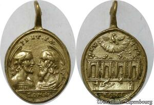 S9296 Rare Médaille Jubilee Petrus Papal Vatican Roma ->Make offer